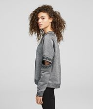 KARL LAGERFELD Cut-Out Sleeve Sweatshirt Sweatshirt Woman d