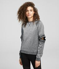 KARL LAGERFELD Sweatshirt Woman Cut-Out Sleeve Sweatshirt f