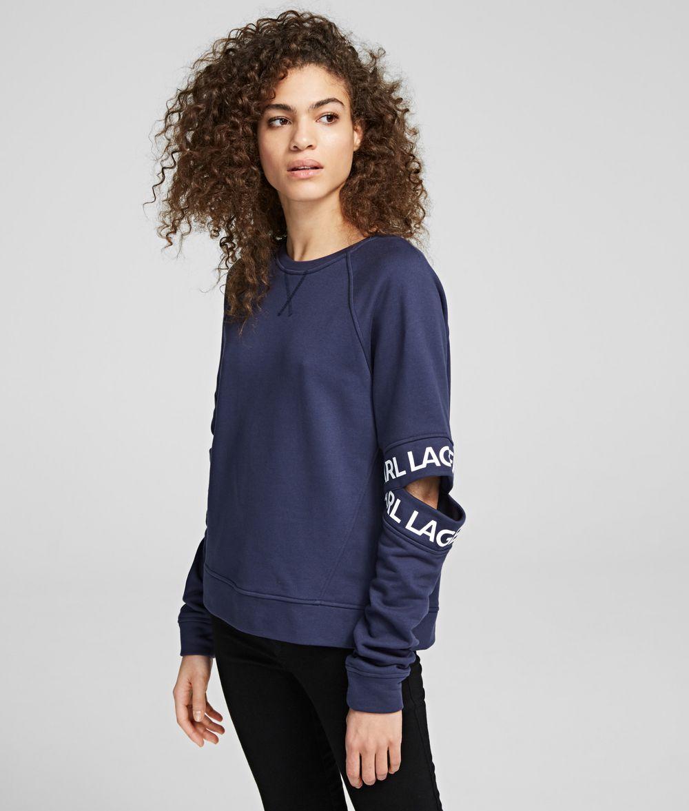 KARL LAGERFELD Cutout Sleeve Sweatshirt Sweatshirt Woman f