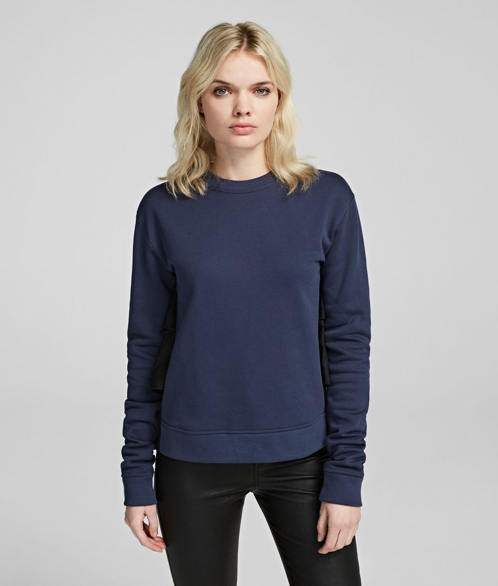 KARL LAGERFELD Fabric Mix Sweatshirt Sweatshirt Woman f