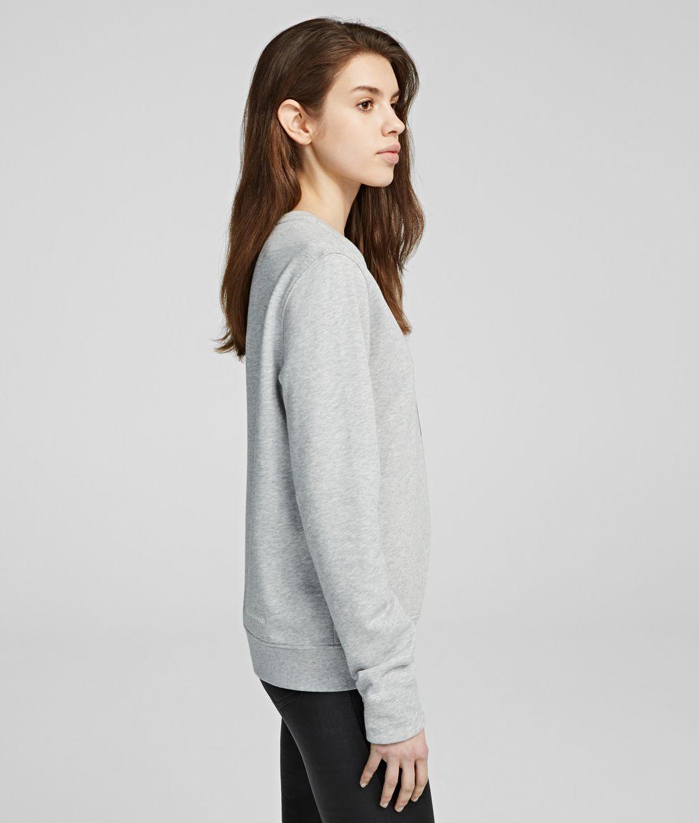 KARL LAGERFELD K/Ikonik Rhinestone Sweatshirt Sweatshirt Woman d