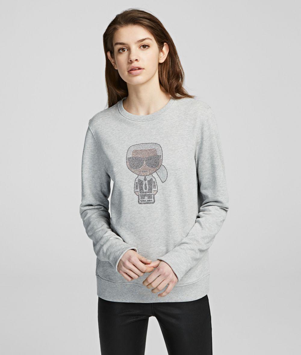 KARL LAGERFELD K/Ikonik Rhinestone Sweatshirt Sweatshirt Woman f