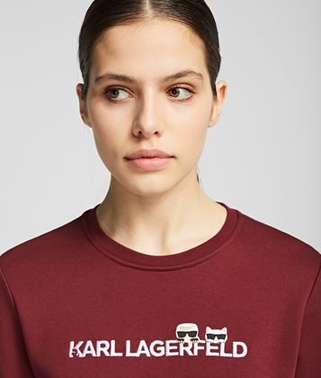 KARL LAGERFELD K/IKONIK LOGO SWEATSHIRT