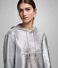 KARL LAGERFELD Address Logo Hoodie Sweatshirt Woman r