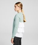 KARL LAGERFELD FABRIC MIX SWEATSHIRT