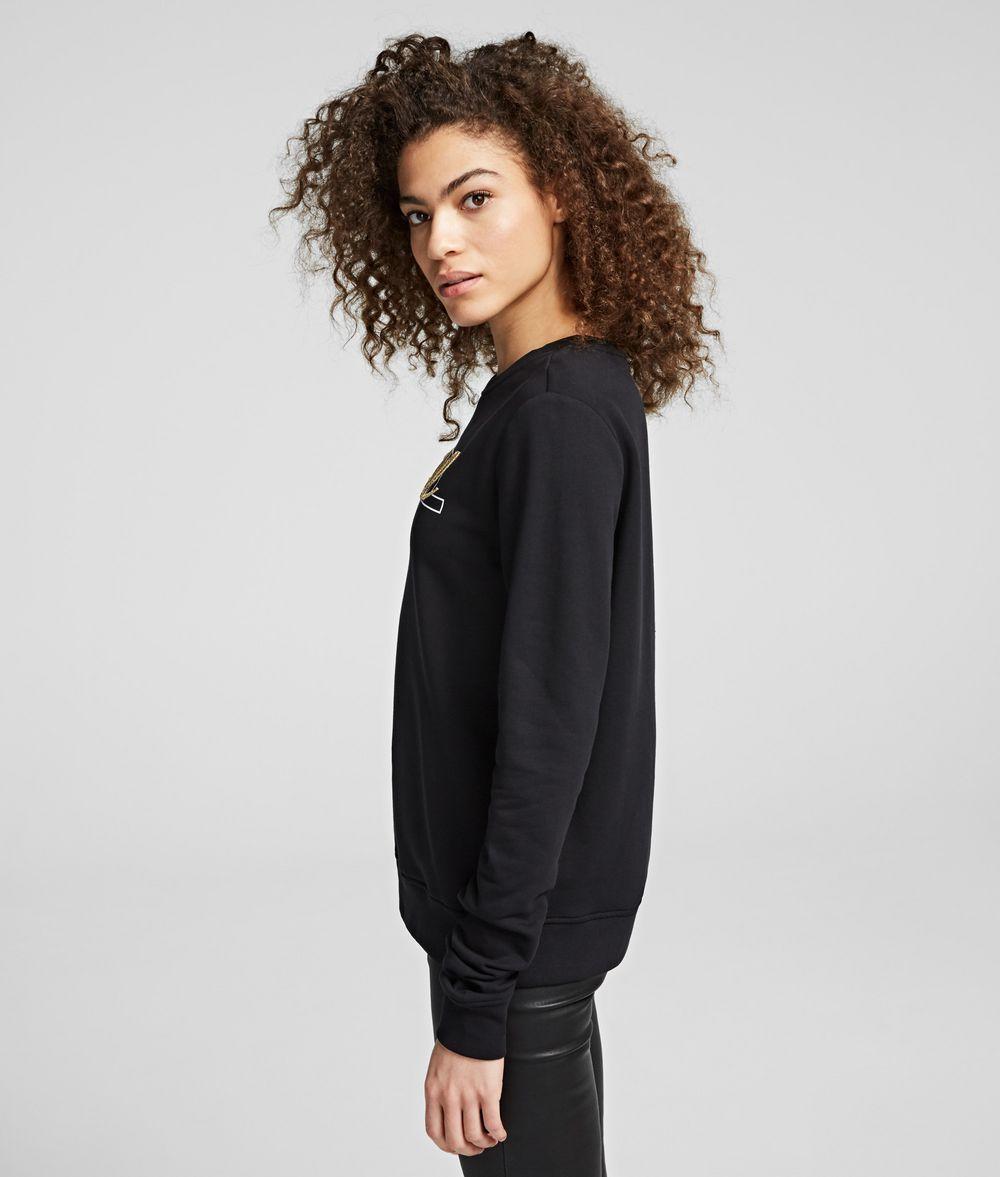 KARL LAGERFELD Double Logo Sweatshirt Sweatshirt Woman d