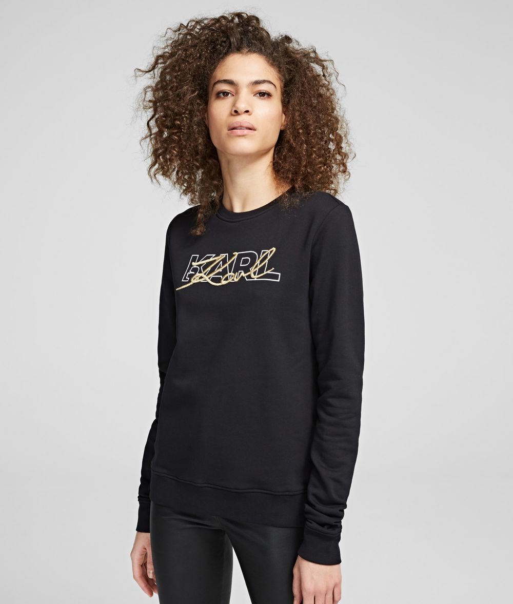 KARL LAGERFELD Double Logo Sweatshirt Sweatshirt Woman f
