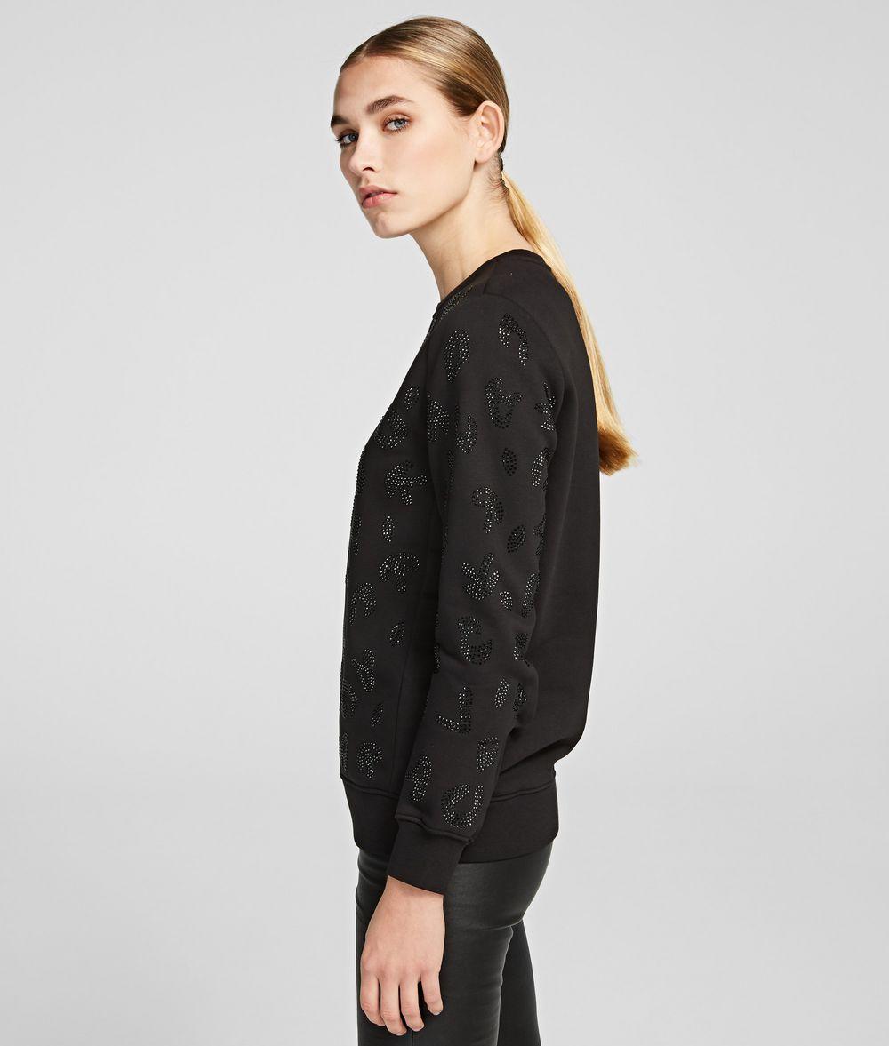 KARL LAGERFELD Sparkly Logo Sweatshirt Sweatshirt Woman d