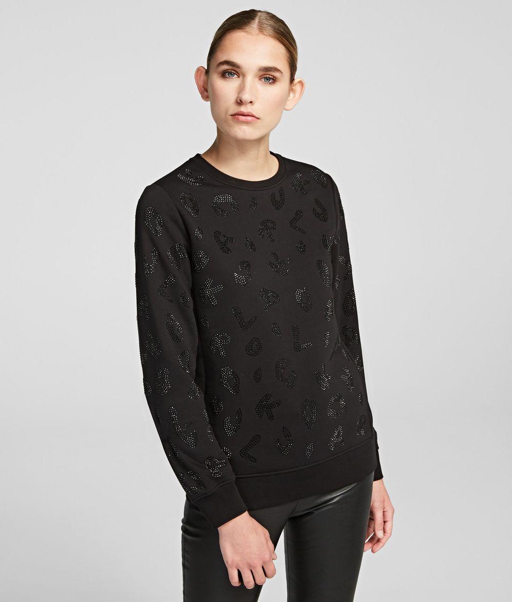 KARL LAGERFELD Sparkly Logo Sweatshirt Sweatshirt Woman f