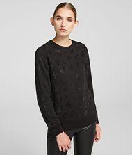 KARL LAGERFELD Sparkly Logo Sweatshirt 9_f