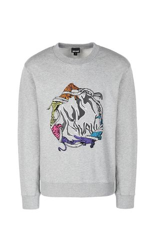 "JUST CAVALLI Sweatshirt Man ""Burning Leo"" sweatshirt f"