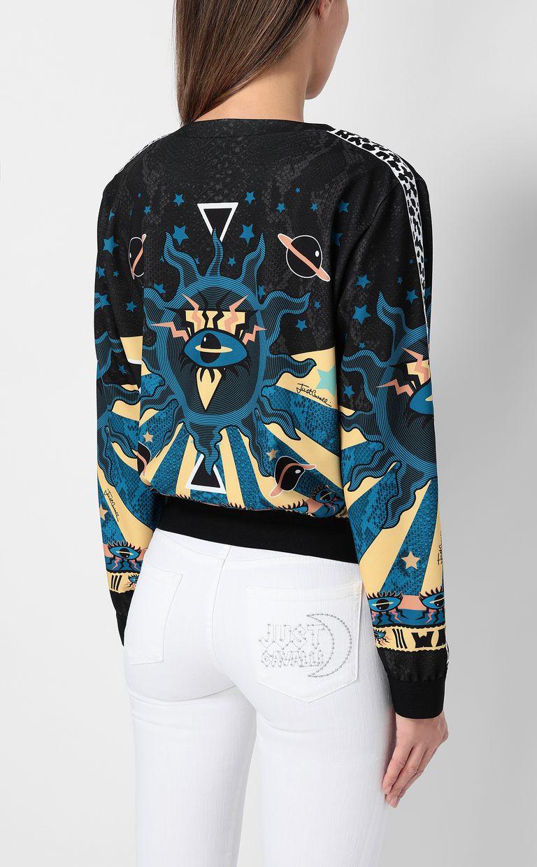 "JUST CAVALLI Sweatshirt with ""Astrology"" print Sweatshirt Woman a"