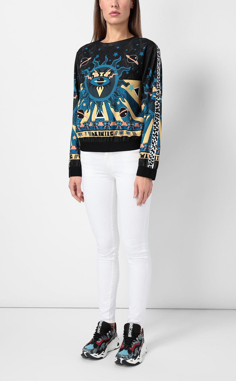 "JUST CAVALLI Sweatshirt with ""Astrology"" print Sweatshirt Woman d"