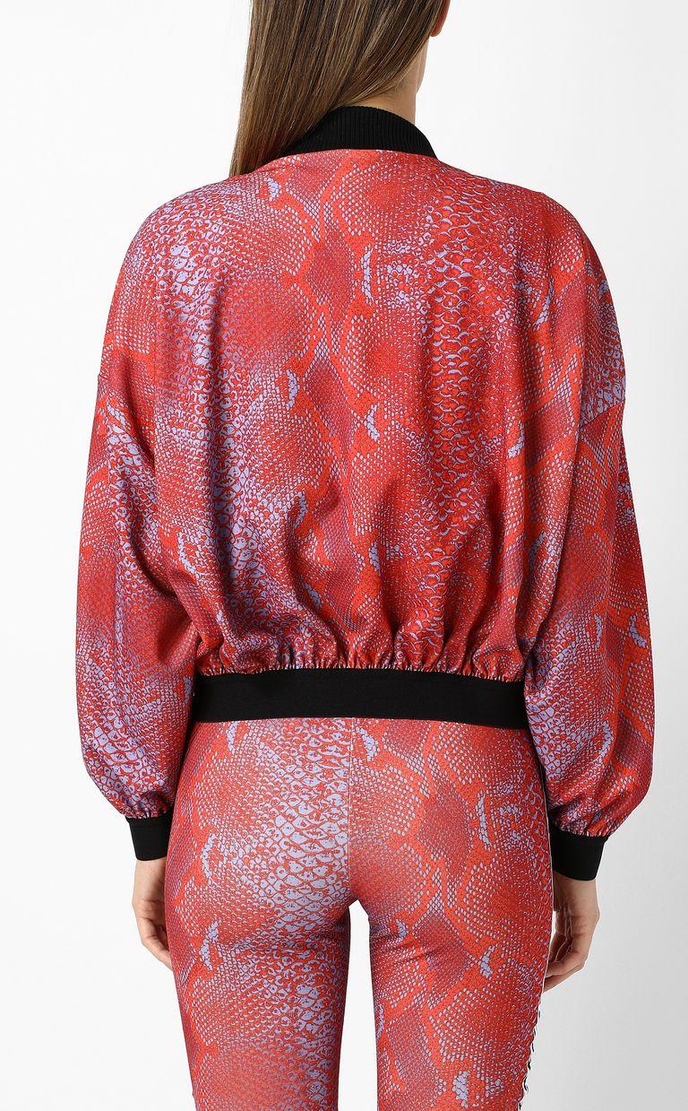 JUST CAVALLI Python-print bomber jacket Jacket Woman a