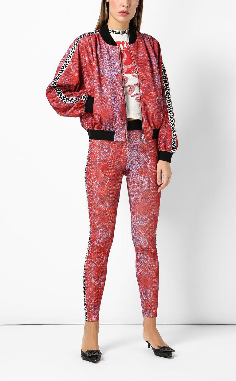 JUST CAVALLI Python-print bomber jacket Jacket Woman d