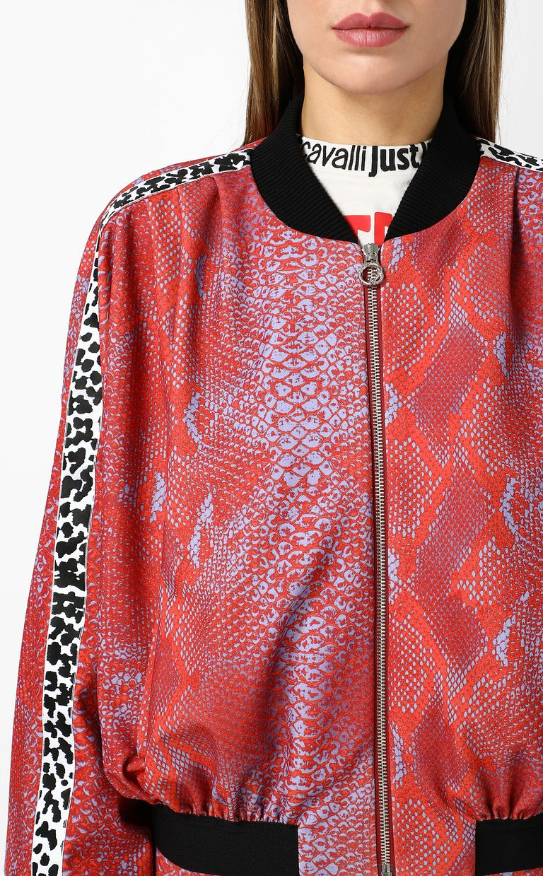 JUST CAVALLI Python-print bomber jacket Jacket Woman e