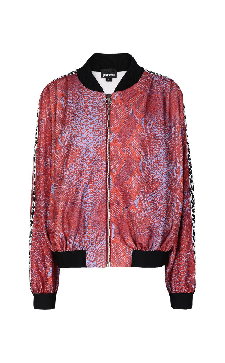 JUST CAVALLI Python-print bomber jacket Jacket Woman f