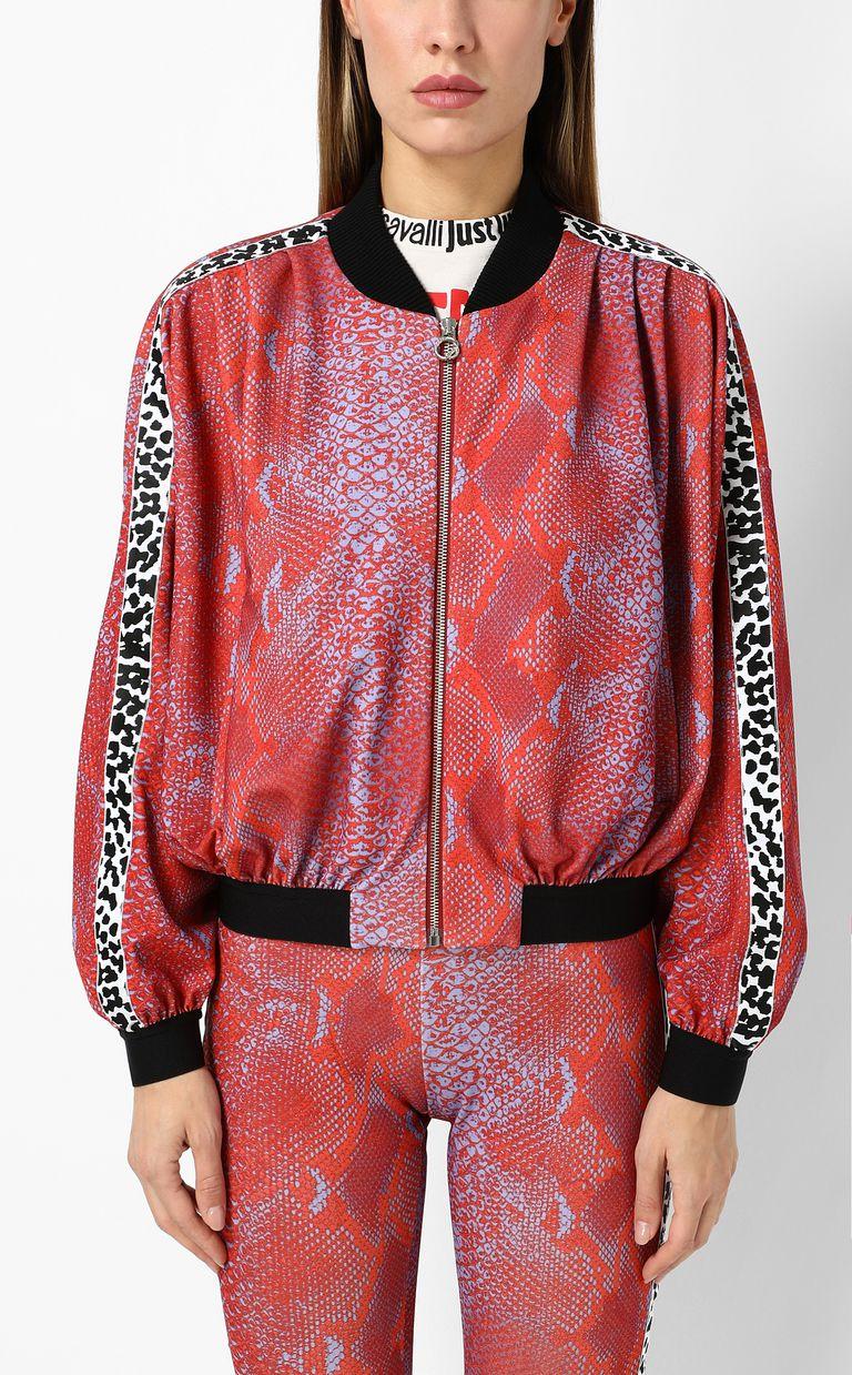 JUST CAVALLI Python-print bomber jacket Jacket Woman r