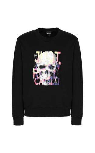 JUST CAVALLI Sweatshirt Man Skull sweatshirt f