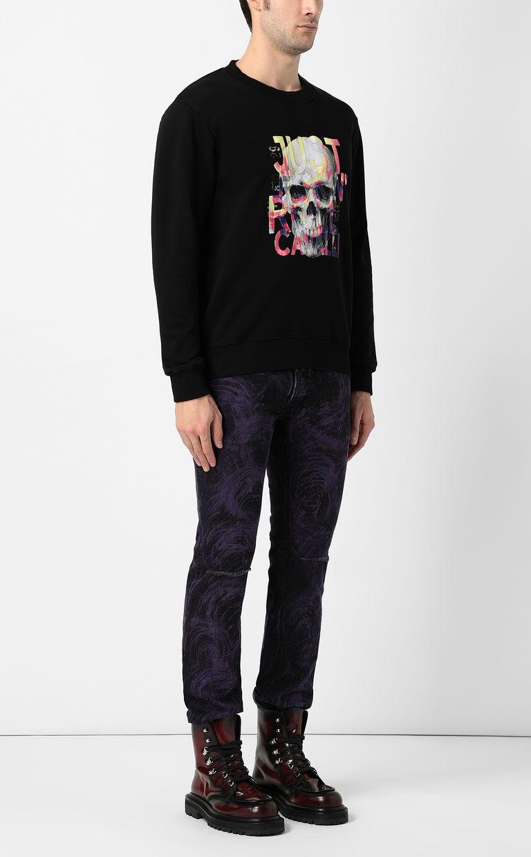 JUST CAVALLI Skull sweatshirt Sweatshirt Man d