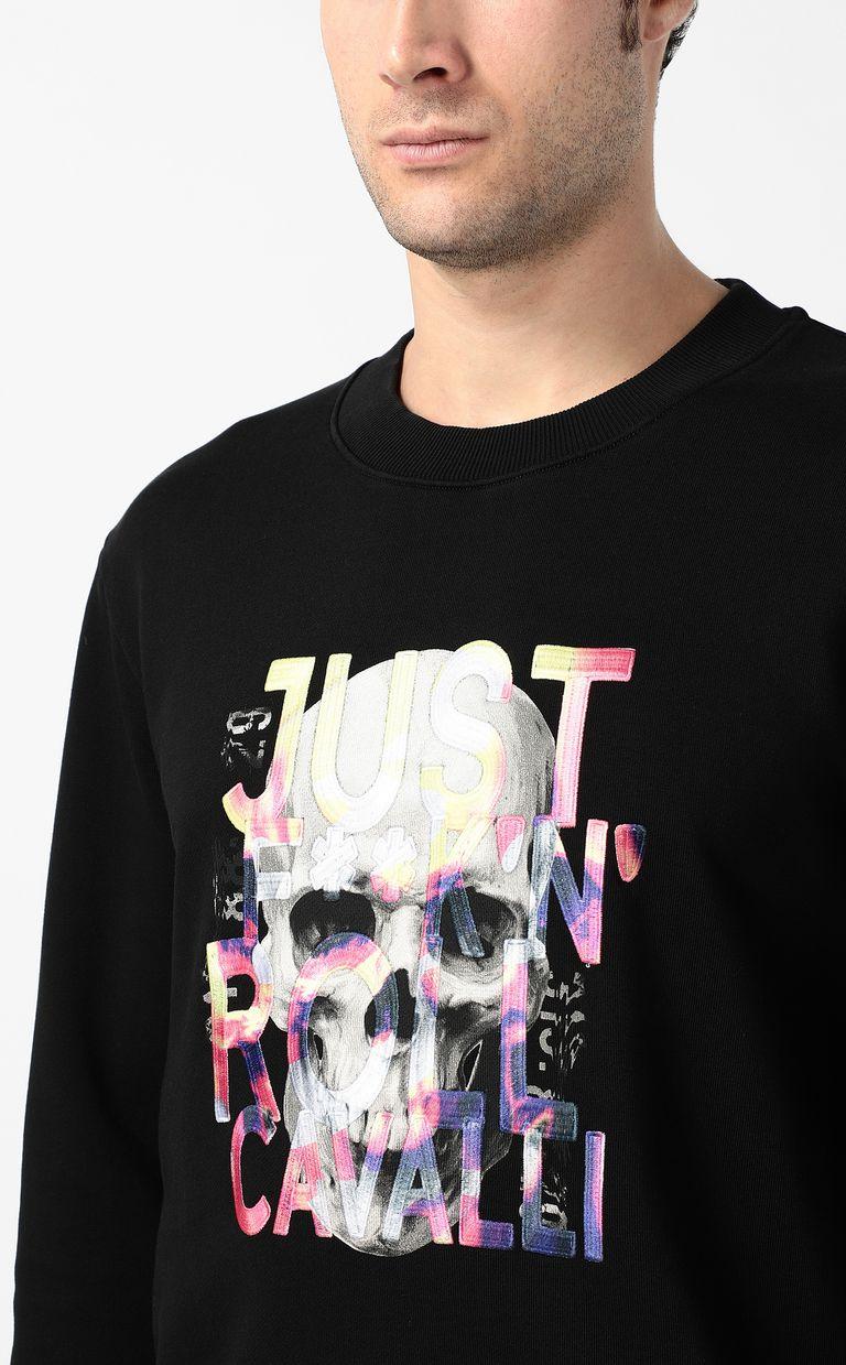 JUST CAVALLI Skull sweatshirt Sweatshirt Man e
