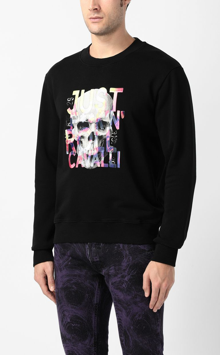 JUST CAVALLI Skull sweatshirt Sweatshirt Man r