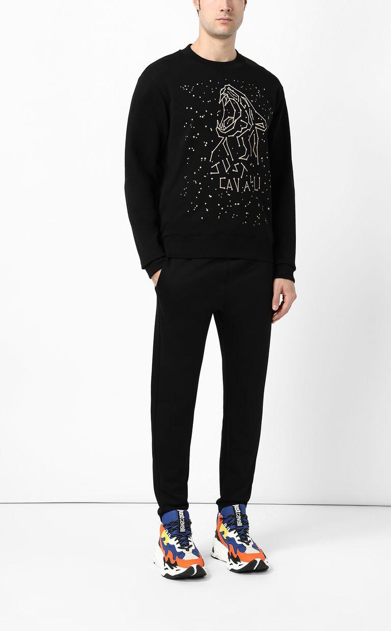 JUST CAVALLI Astral tiger sweatshirt Sweatshirt Man d
