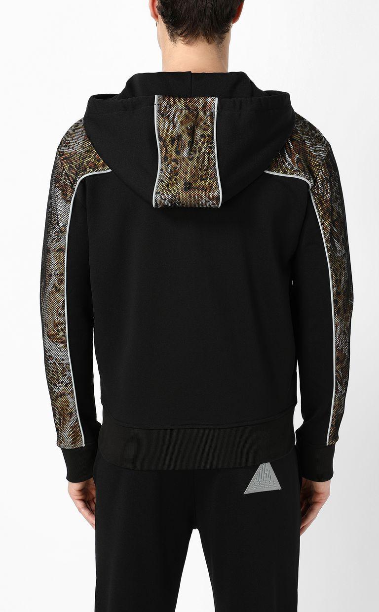 "JUST CAVALLI Sweatshirt with ""Rave"" print Sweatshirt Man a"