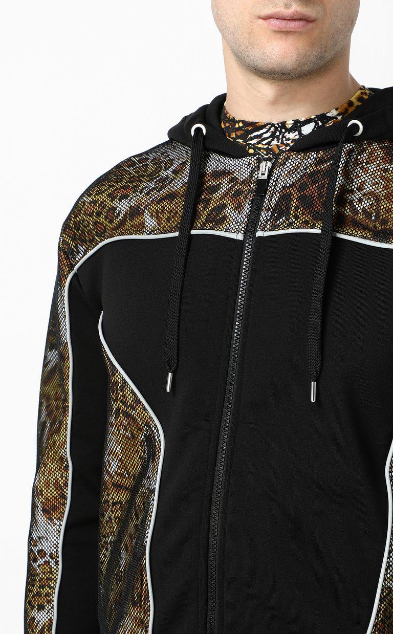 "JUST CAVALLI Sweatshirt with ""Rave"" print Sweatshirt Man e"