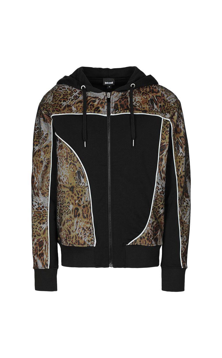 "JUST CAVALLI Sweatshirt with ""Rave"" print Sweatshirt Man f"