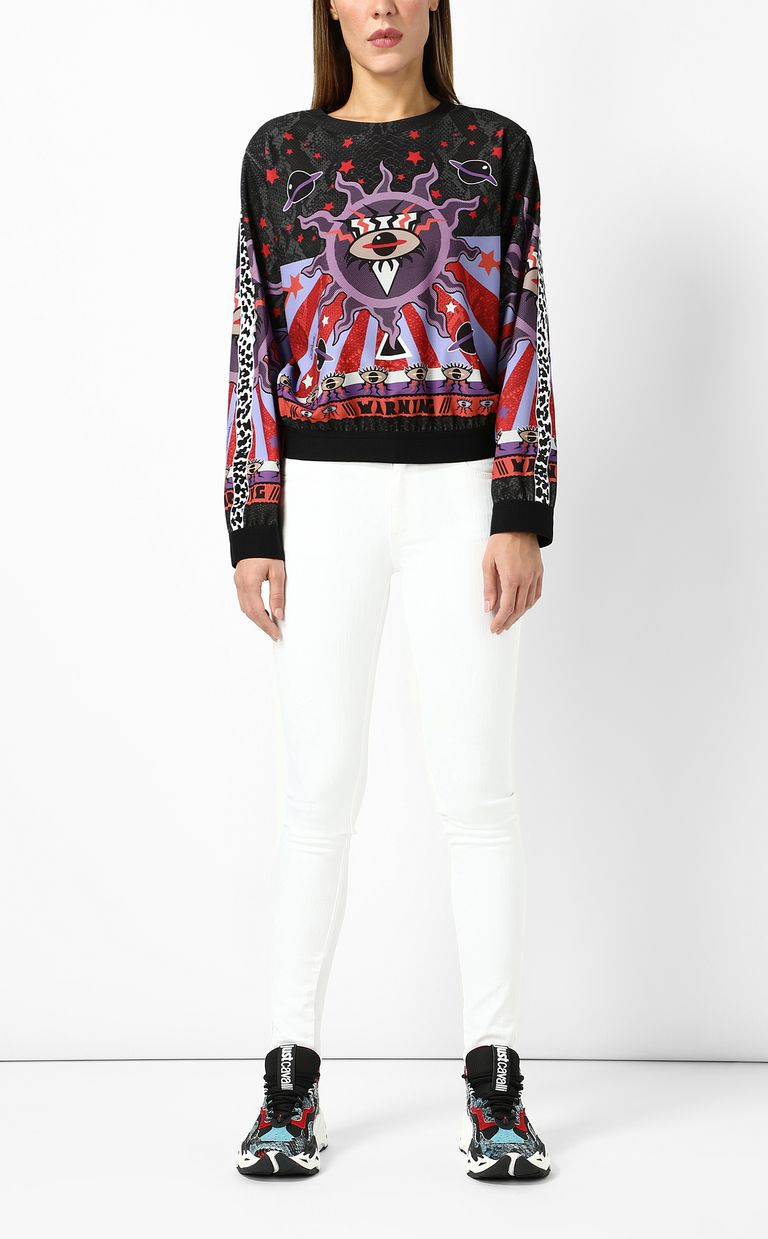 "JUST CAVALLI Sweatshirt with ""Astrology"" print Sweatshirt Woman d"