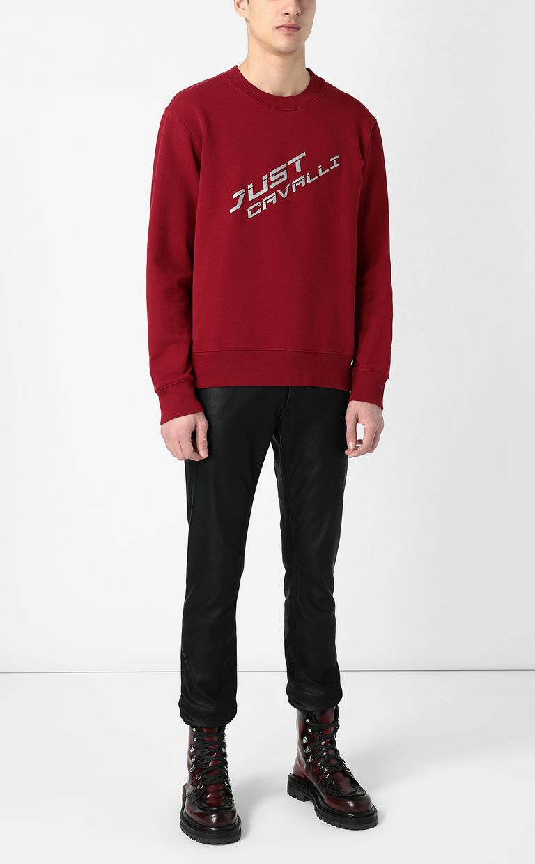 JUST CAVALLI Sweatshirt with logo Sweatshirt Man d