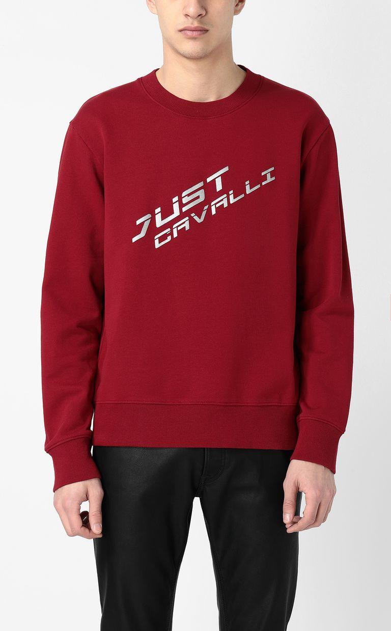 JUST CAVALLI Sweatshirt with logo Sweatshirt Man r