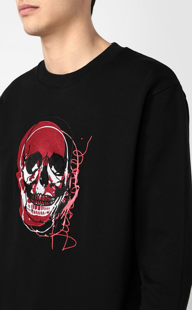 JUST CAVALLI Sweatshirt with skull Sweatshirt Man e