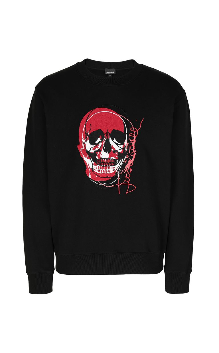 JUST CAVALLI Sweatshirt with skull Sweatshirt Man f