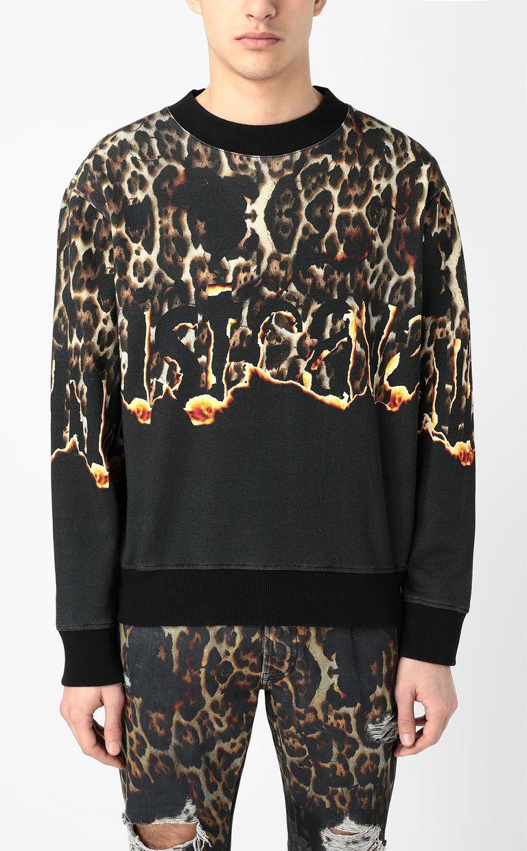 "JUST CAVALLI ""Burning Leo"" sweatshirt Sweatshirt Man r"