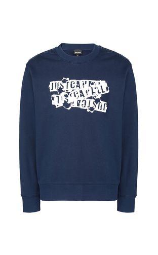 JUST CAVALLI Sweatshirt Man Animal-print sweatshirt f