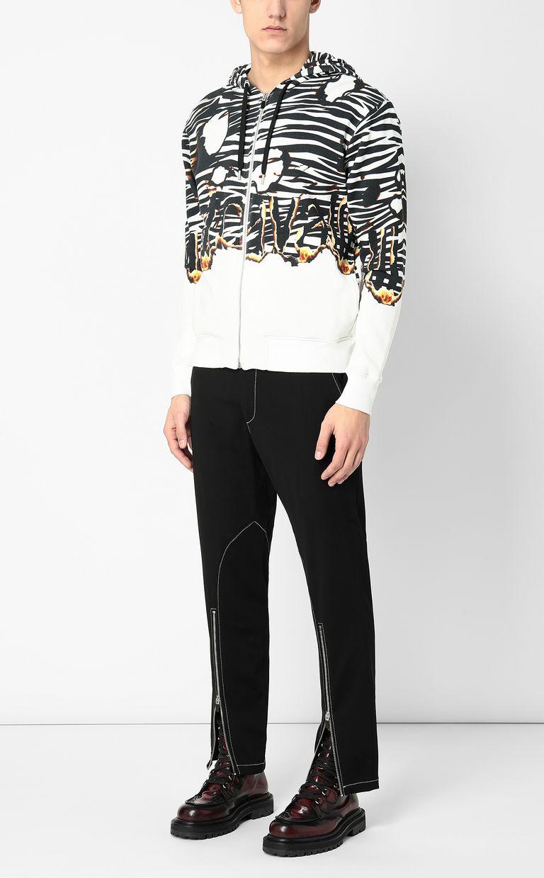 "JUST CAVALLI ""Burning Zebra""-print sweatshirt Sweatshirt Man d"