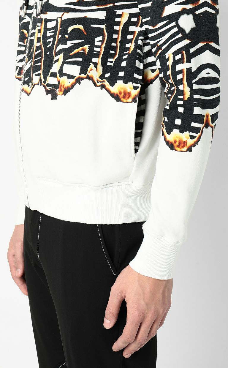 "JUST CAVALLI ""Burning Zebra""-print sweatshirt Sweatshirt Man e"