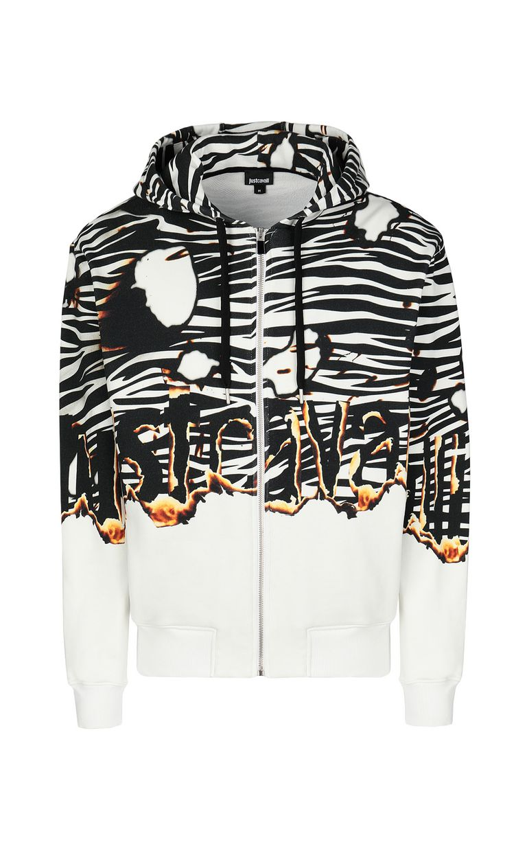 "JUST CAVALLI ""Burning Zebra""-print sweatshirt Sweatshirt Man f"
