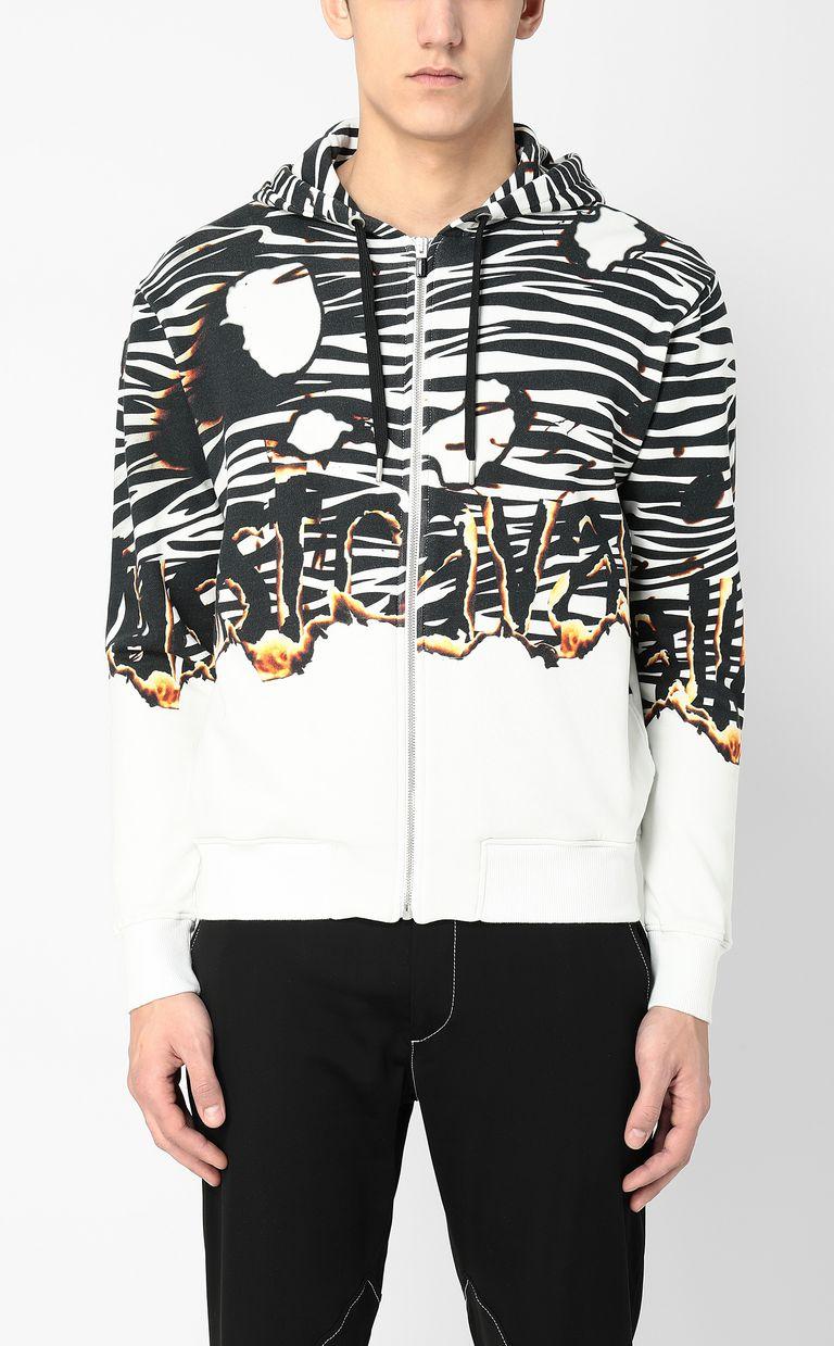 "JUST CAVALLI ""Burning Zebra""-print sweatshirt Sweatshirt Man r"