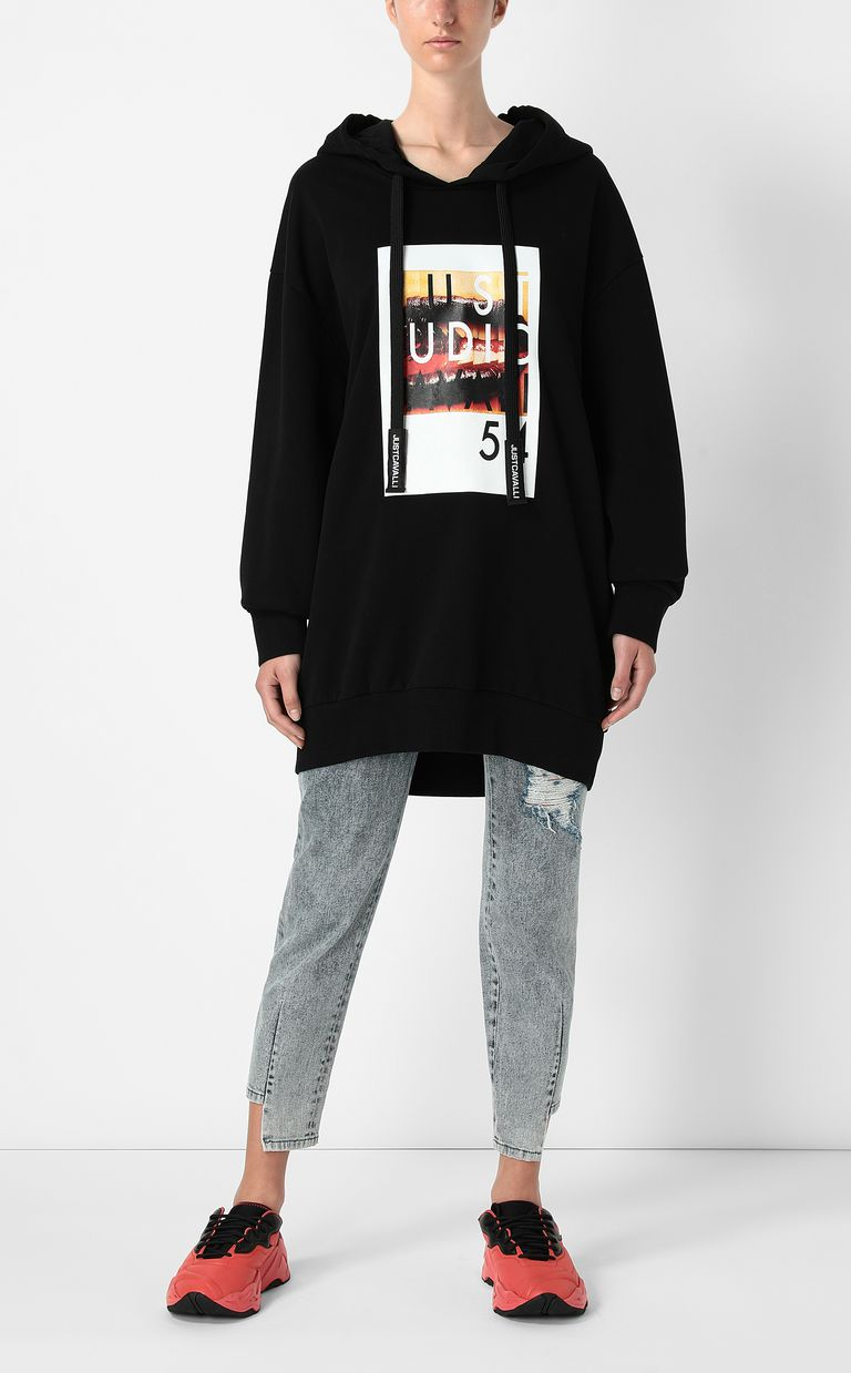 JUST CAVALLI Sweatshirt with Poster-Mouth print Sweatshirt Woman d