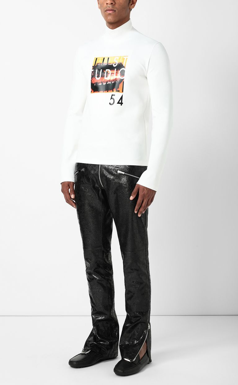 JUST CAVALLI T-shirt with Poster Mouth print Sweatshirt Man d