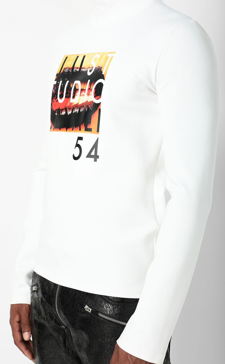 JUST CAVALLI T-shirt with Poster Mouth print Sweatshirt Man e