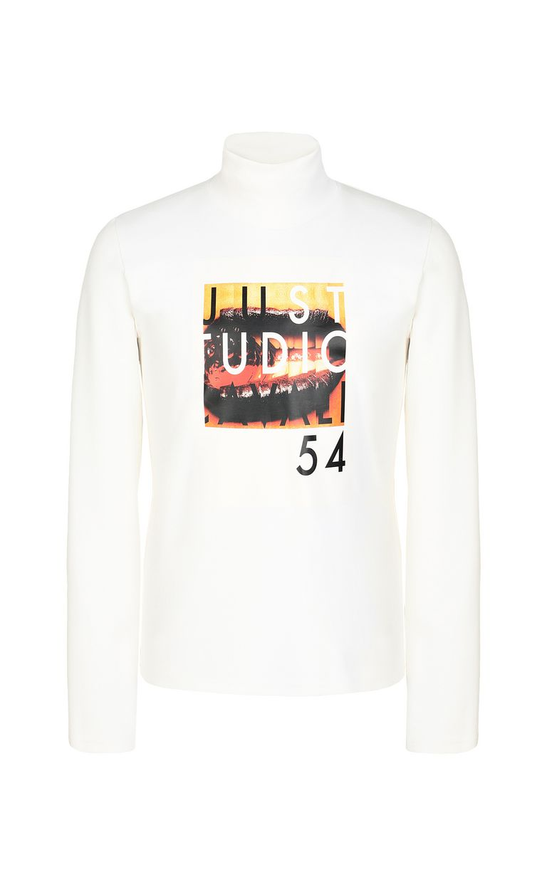 JUST CAVALLI T-shirt with Poster Mouth print Sweatshirt Man f