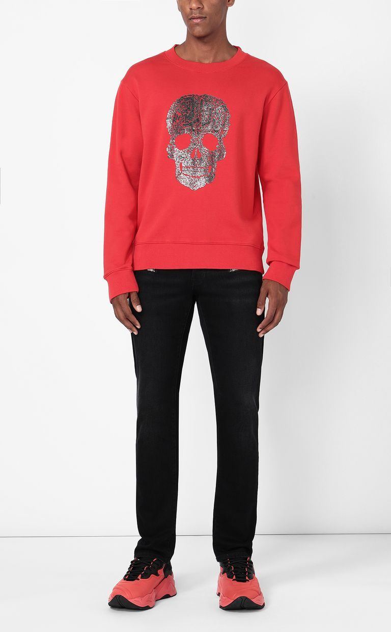 JUST CAVALLI Sweatshirt with skull Sweatshirt Man d