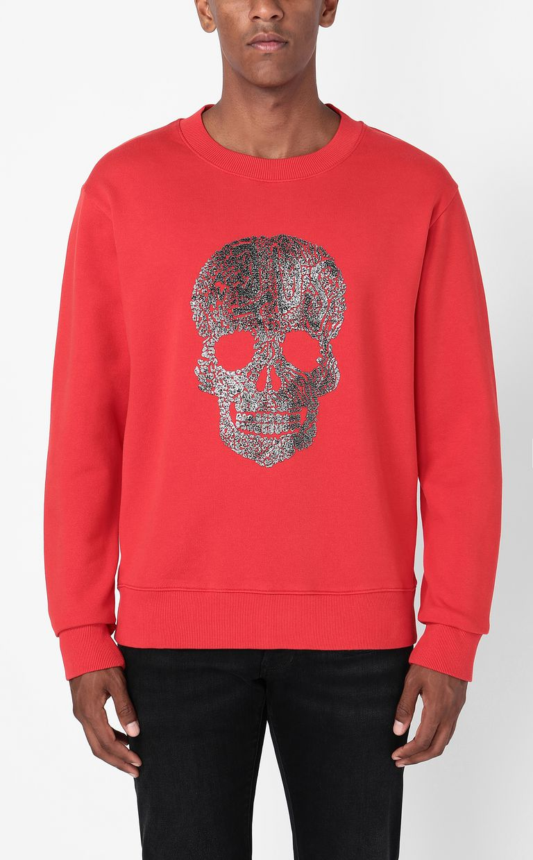 JUST CAVALLI Sweatshirt with skull Sweatshirt Man r