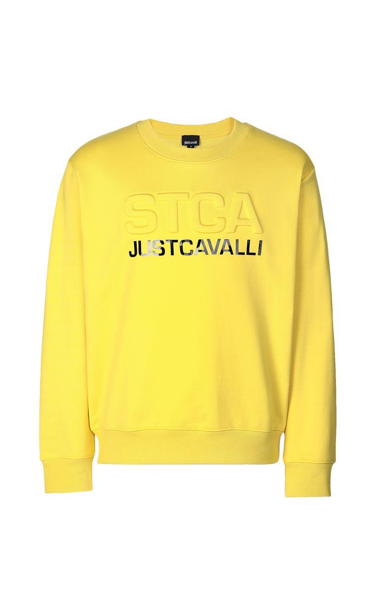 JUST CAVALLI Sweatshirt with logo print Sweatshirt Man f