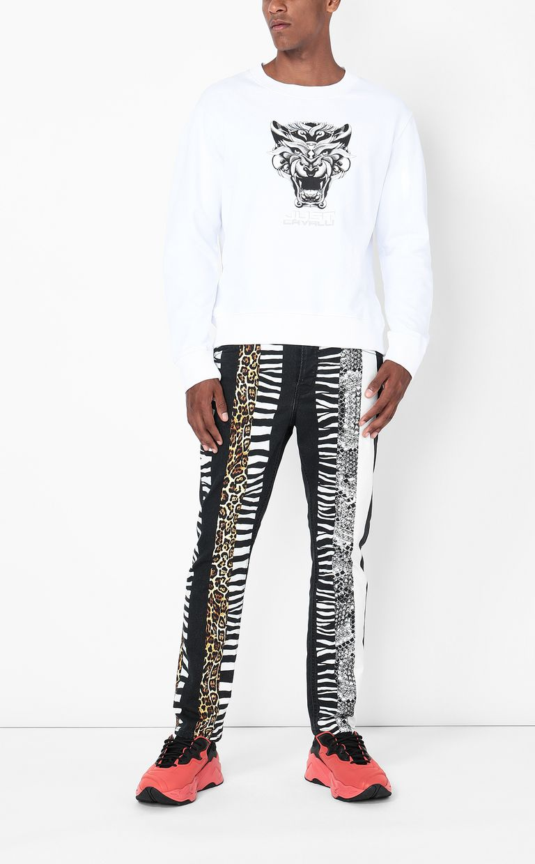 JUST CAVALLI Sweatshirt with Tiger-Knocker print Sweatshirt Man d