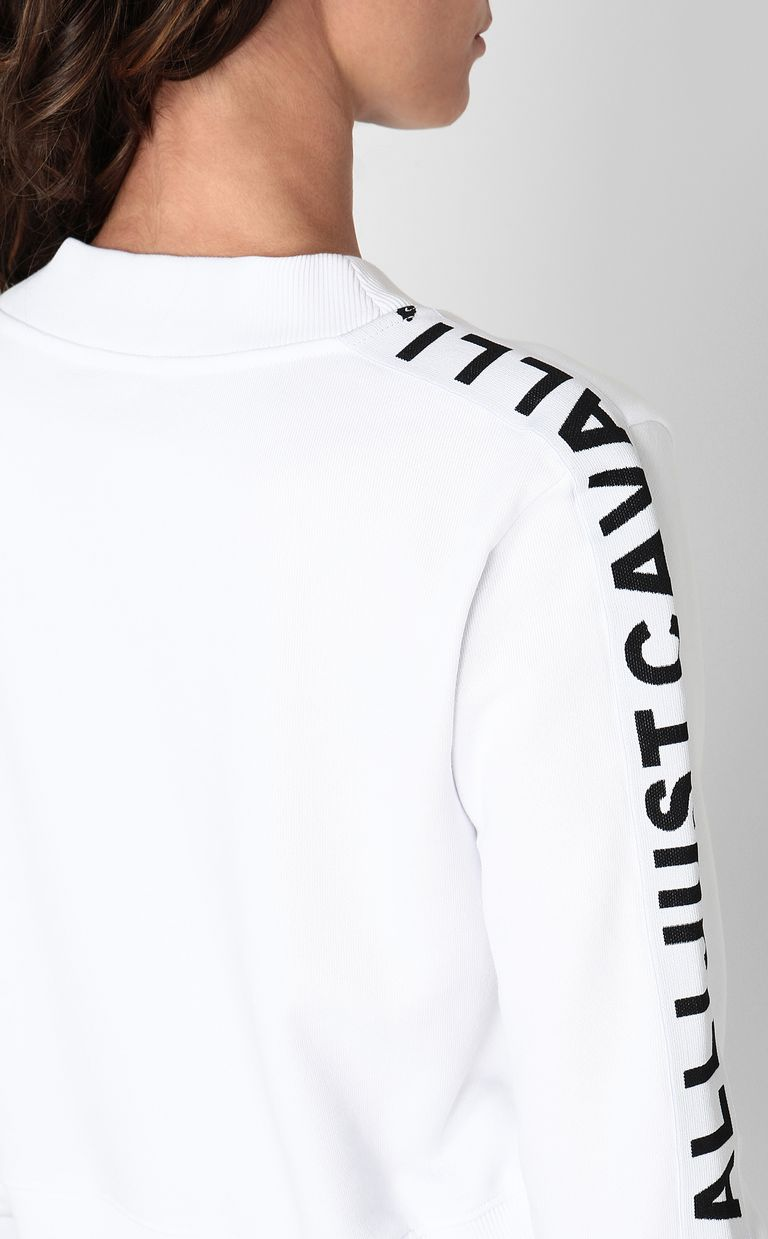 JUST CAVALLI Sweatshirt with logo tape Sweatshirt Woman e